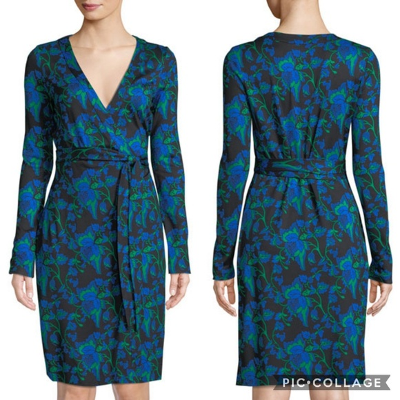 c2860af3f23 Diane Von Furstenberg Julian Silk Wrap Dress